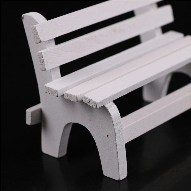 Mini Garden Wooden Bench For Doll House