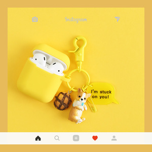 Image 2 - Cute Dog Silicone Case For Apple AirPods Case Cover Funny Bluetooth Earphone Case For Airpods Protective Cover Cartoon Key Ring