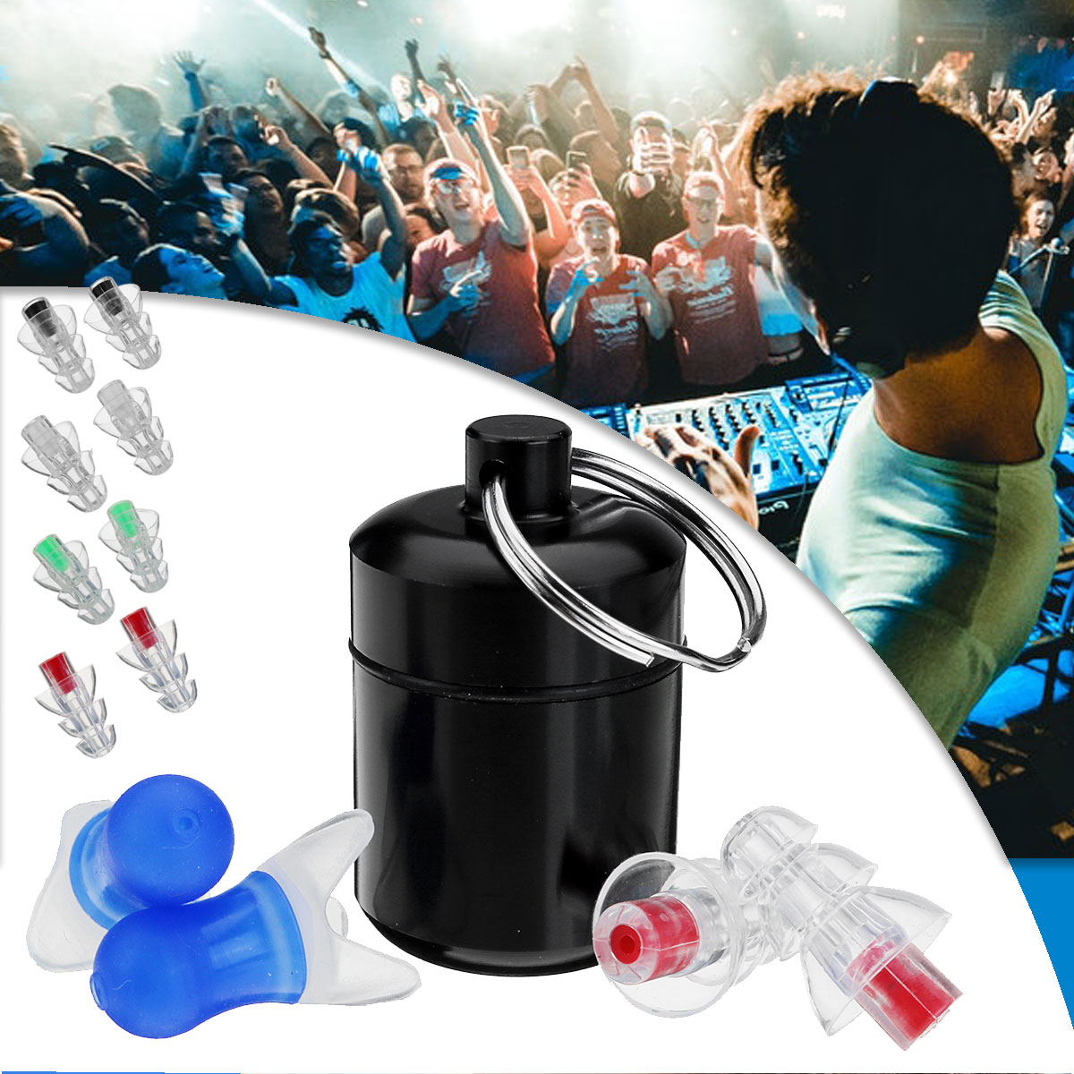 Safurance 2Pcs Noise Cancelling Earplugs Hearing Protection Reusable Silicone Ear Plugs For Sleep Bar whit Bottle safurance 2pairs noise cancelling hearing protection earplugs for concerts musician motorcycles reusable silicone ear plugs