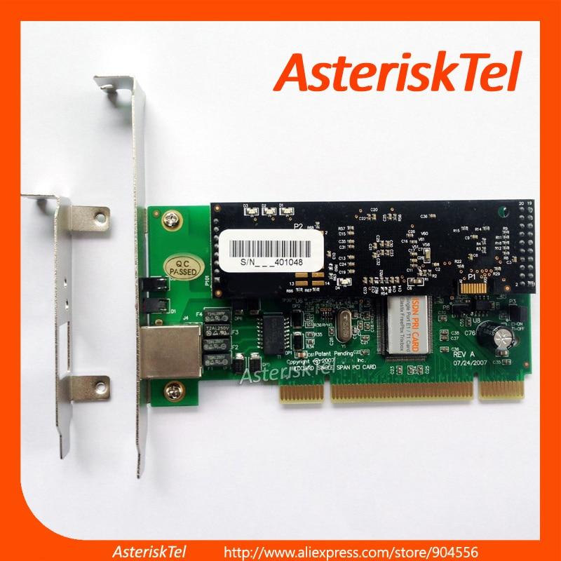 imágenes para Tarjeta del asterisco TE122P Solo Puerto E1 T1 Tarjeta + Cancelación De Eco. Hardware VPMADT032, tarjeta digium ISDN PRI SS7 Para Elastix FreePBX
