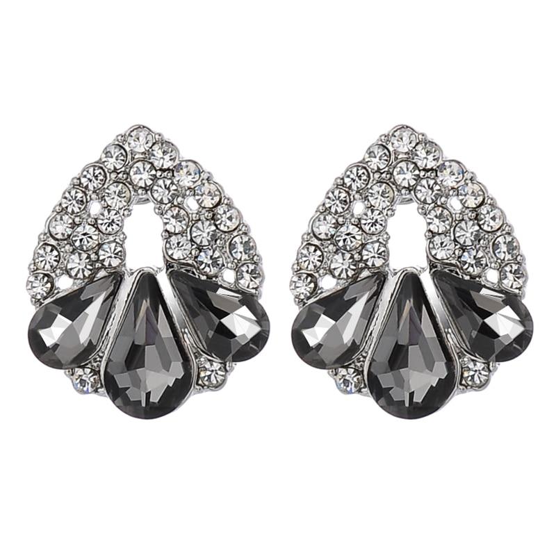 New Brands Elegant Big Stud Earrings For Women Fashion Silver Plated  Brincos Full Rhinestone Crystal Earring Free Shipping-in Stud Earrings from  Jewelry ... cbf948ea6648