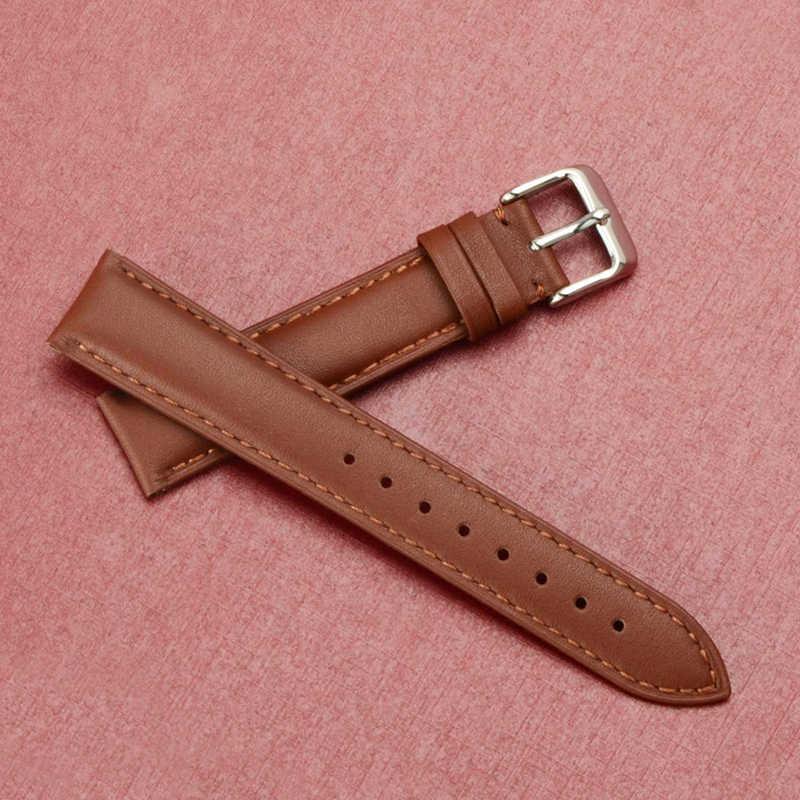 2018 עור רצועת השעון גברים נשים שעון להקת 20mm 18mm 16mm שעון יד רצועה על חגורת Watchbands צמיד מתכת אבזם