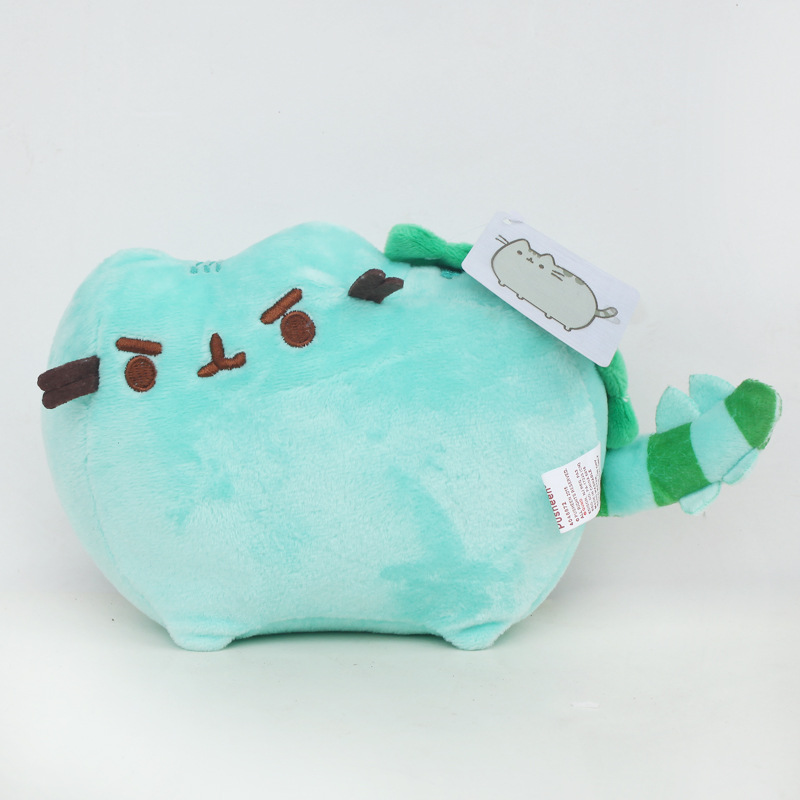 15cm/23cm Green Pusheen Plush Toys Kawaii Pusheen Cat Plush Soft Stuffed Animals Toys Doll for Kids Children Xmas Gifts cute bulbasaur plush toys baby kawaii genius soft stuffed animals doll for kids hot anime character toys children birthday gift
