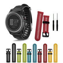 26mm Watch Strap for Garmin Fenix 3 5X Band with tools Outdoor Sport Silicone Watchband 3HR/Fenix Plus Bands