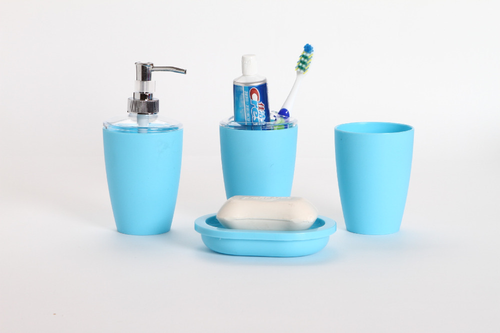 2016new 4pcs Set Pp Creative Solid Shell Bathroom Sets Bath Accessories Wash Gargle Suit Products In From Home Garden