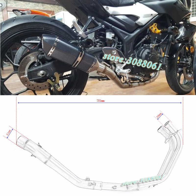 Slip On For Yamaha R25 R3 YZF R3 2014 2015 2016 Motorcycle Exhaust Escape Modified Front