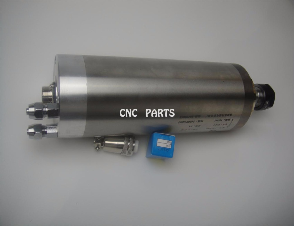 ER20 diameter 80mm 220V 24000rpm 2.2kw water cooling spindle water cooled spindle motor fit for max. 13.7mm tools