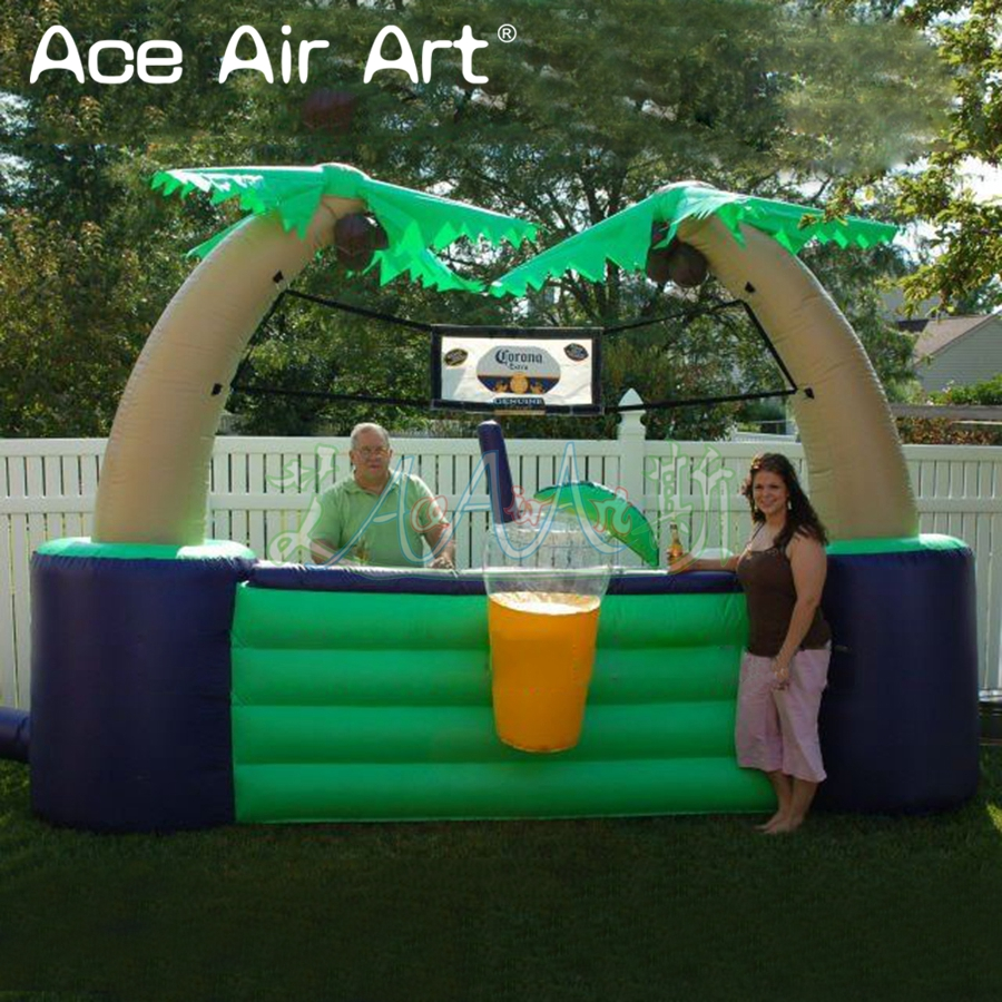 Portable inflatable tiki bar,inflatable kiosk bar/Beverage stall/sale station for lemon  ...
