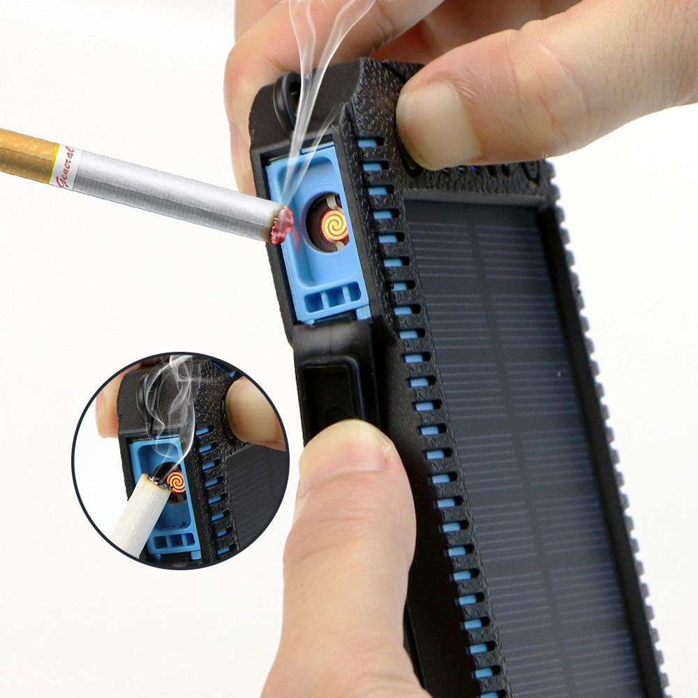imágenes para Banco de la Energía Solar 15000 mAh Solar Batería Externa con Encendedor Eléctrico de Carga para el iphone Samsung LG HTC Sony y más.