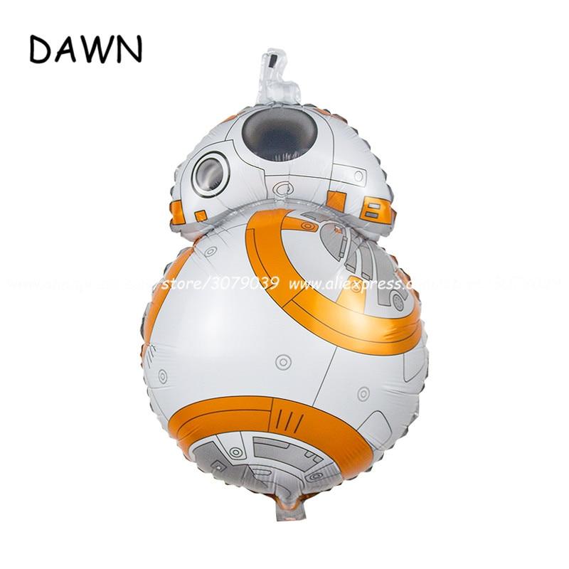 50 Stks/partij Star Wars Ballonnen Mooie Bb-8 Robot Star Wars De Force Wekt Helium Verjaardag Ballonnen Speelgoed Geschenken