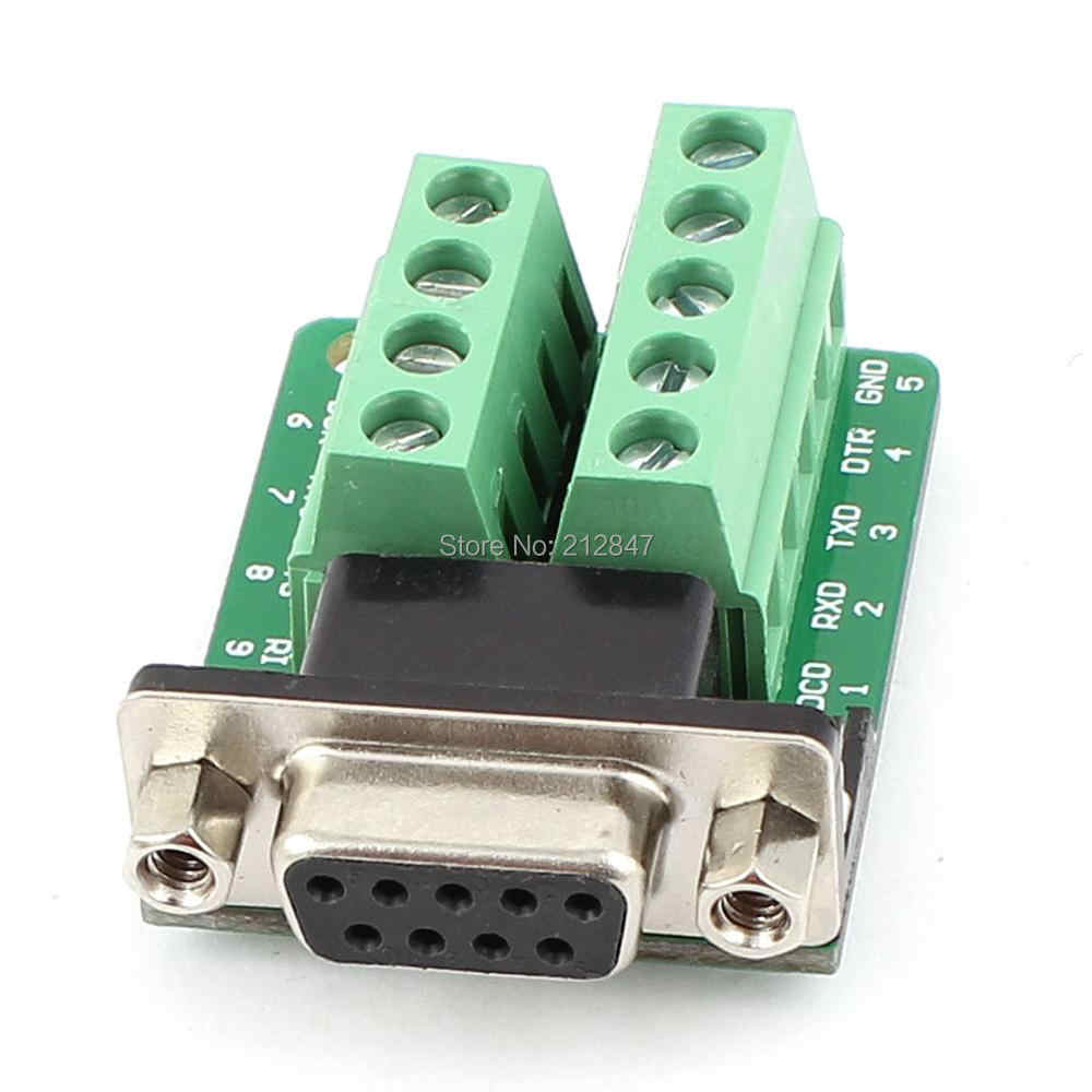 Rs232シリアルdb9メスアダプタに端子コネクタ信号プレートモジュール