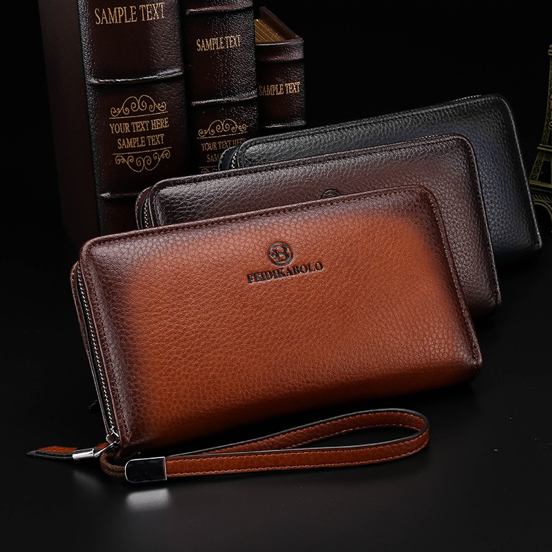 2016 Luxury Male Leather Purse Men\'s Clutch Wallets Handy Bags Business Carteras Mujer Wallets Men Black Brown Dollar Price (6)