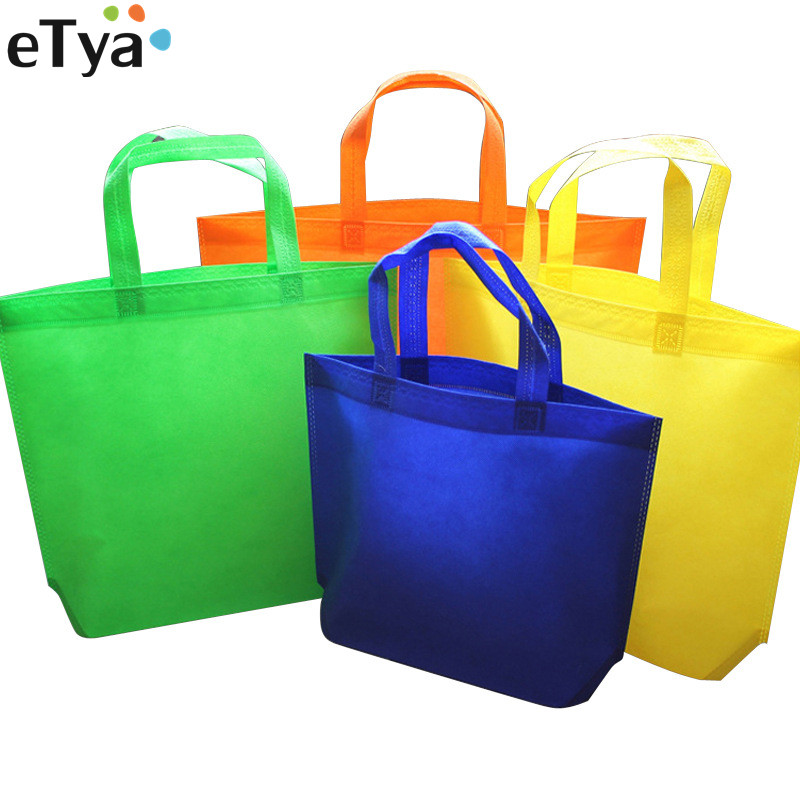 ETya Women Men Small Large Reusable Shopping Bags Female Foldable Eco Shopping Tote Shopper Bag Travel Storage Grocery Bag