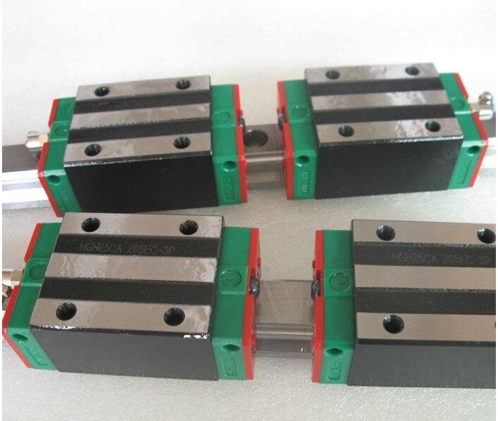 2pcs Hiwin linear guide HGR20-1300MM + 4pcs HGH20CA linear narrow blocks for cnc цена