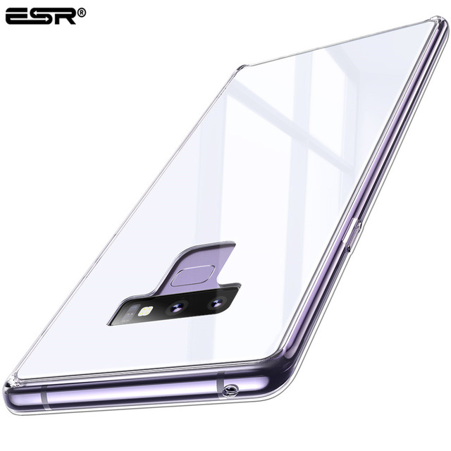 wholesale dealer c1a76 7237f US $10.13 29% OFF|ESR CASE for Samsung Galaxy Note 9 Tempered Glass Case  Full Coverage Ice Crystal Cover Glass Cases for Samsung Note 9 Cover-in ...