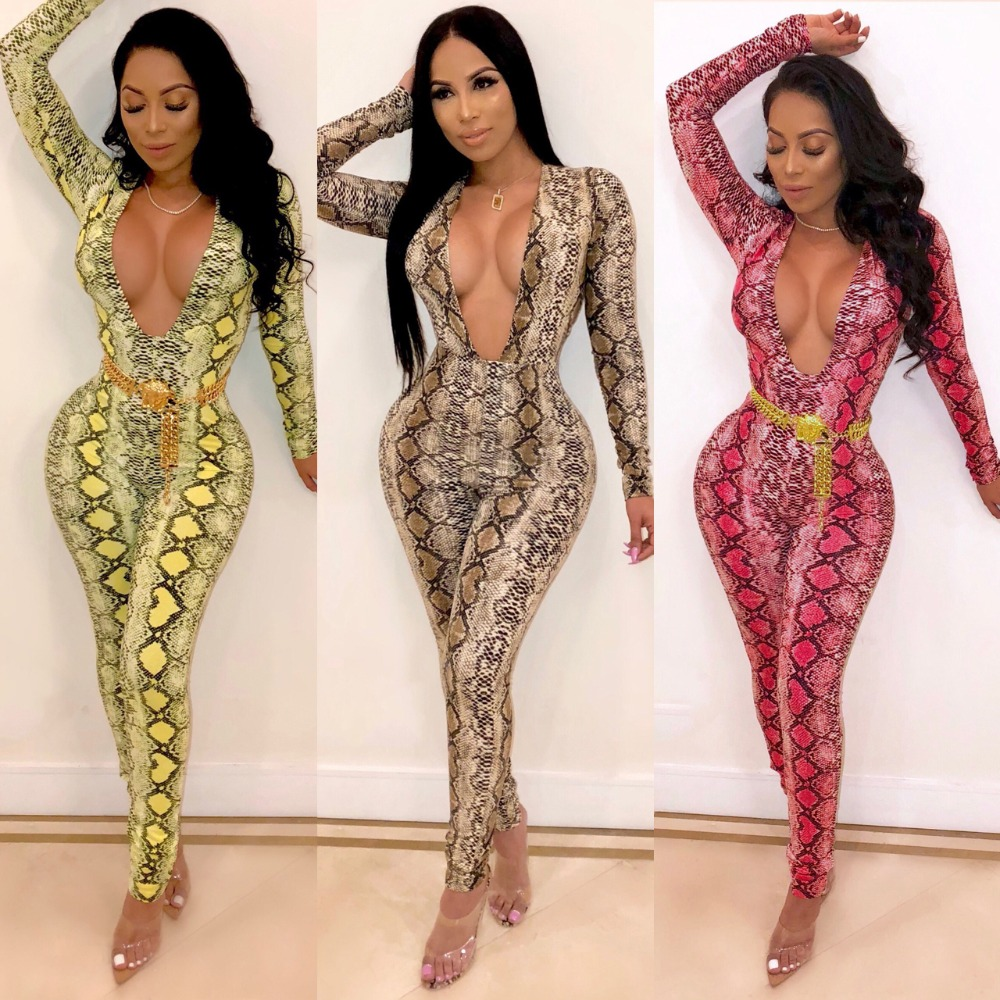 Women's Clothing 2 Color Patchwork Sexy Body-con Jumpsuit 2019 Front Zip Long Sleeve Party Romper Spring Fashion Long Bodysuits For Women Ls6223 Special Buy