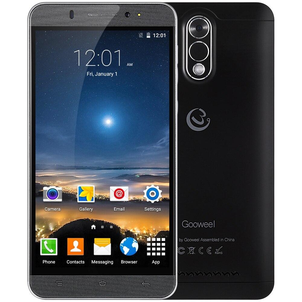 Цена за 6.0 дюймов Gooweel M3 Смартфон Android OS 5.1 2.5D Дуги Экран 3 Г Фаблет MTK6580 Quad Core 1.3 ГГц 1 ГБ RAM 8 ГБ ROM Blueteeth