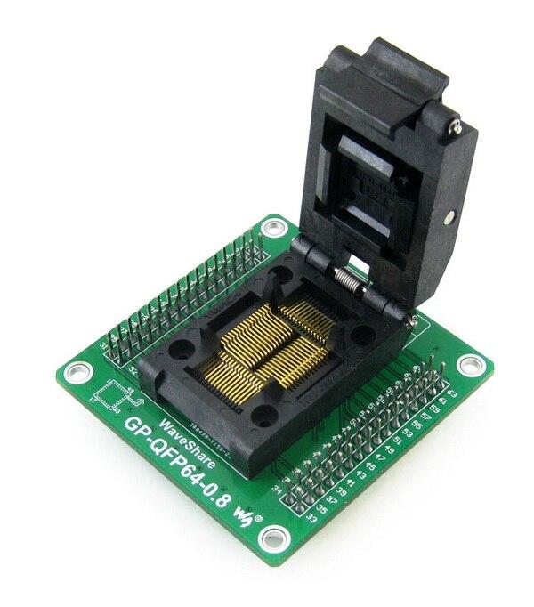 Adaptateur de programmeur de GP-QFP64-0.8 Yamaichi IC prise de Test et adaptateur de programmation pour QFP64 PQFP64 TQFP64 LQFP64 paquet 0.8mm pasAdaptateur de programmeur de GP-QFP64-0.8 Yamaichi IC prise de Test et adaptateur de programmation pour QFP64 PQFP64 TQFP64 LQFP64 paquet 0.8mm pas