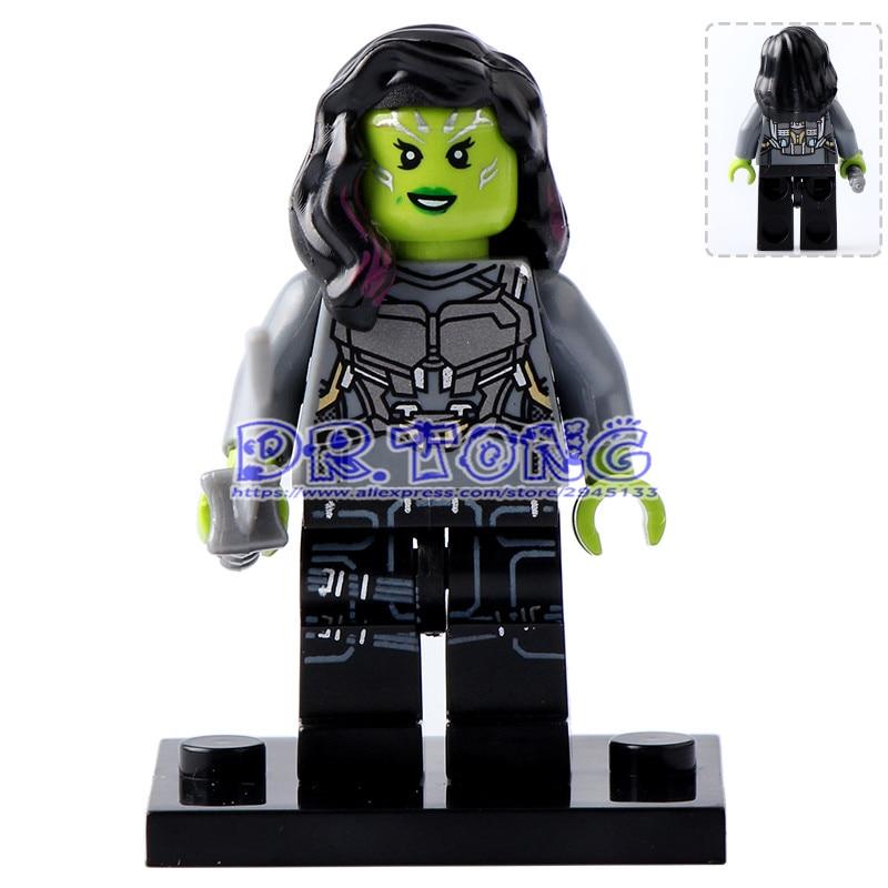 DR.TONG 20pcs/lot PG157 2017 Guardians of the Galaxy 2 Gamora Super Heroes Building Blocks Bricks DIY Toys Children Gifts PG8044