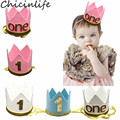 Chicinlife, 1 шт., синий/розовый/белый, 1 год раньше, детский душ, для мальчиков и девочек, шляпа на 1-й день рождения, декоративные принадлежности