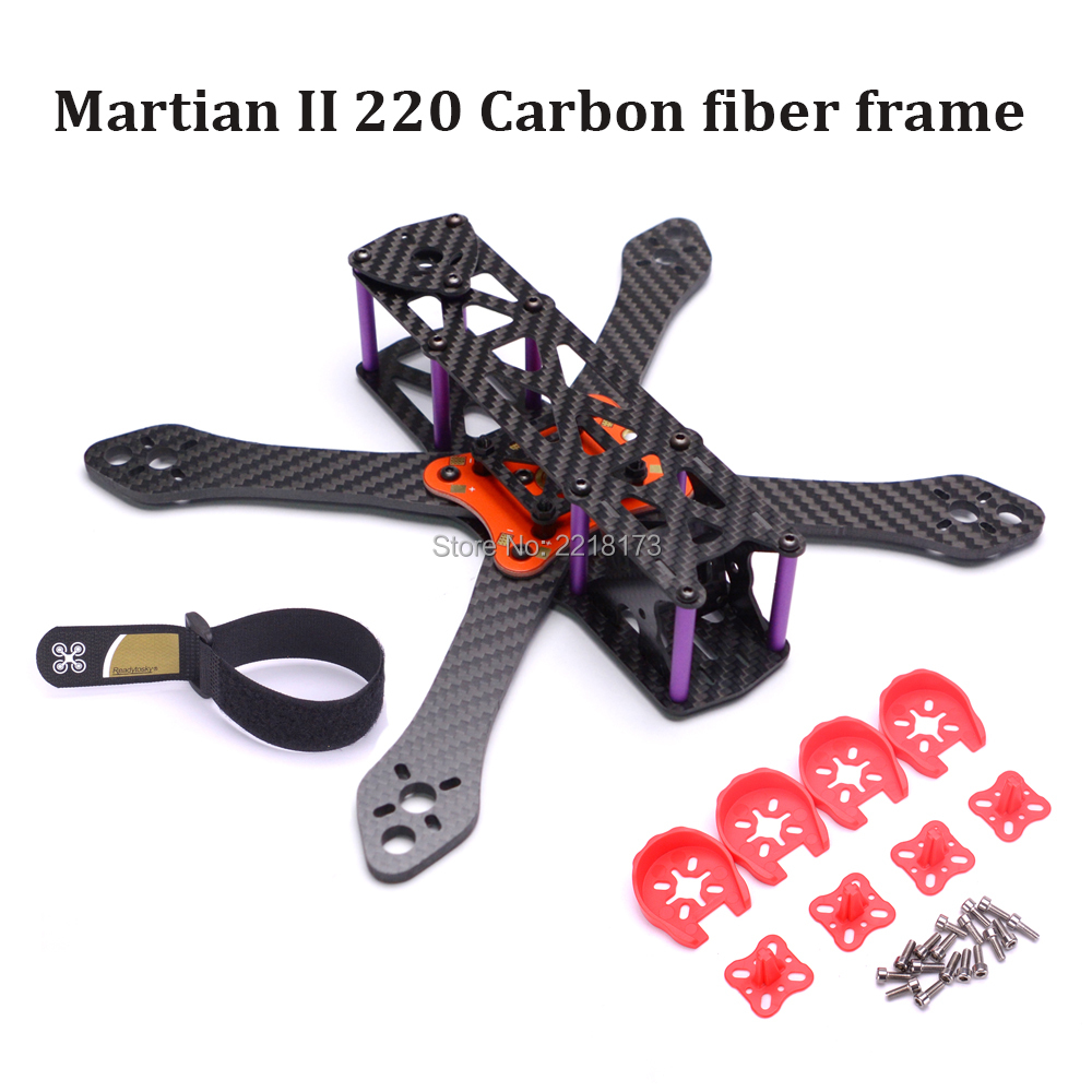 Reptile Martian II 220 220mm 250 250mm 295mm 335mm Carbon Fiber Frame Kit with 4mm Arm + Distribution Board For FPV Racing Drone ge fpv ge x240 monster 4 axis carbon fiber frame kit with power distribution board for quadcopter