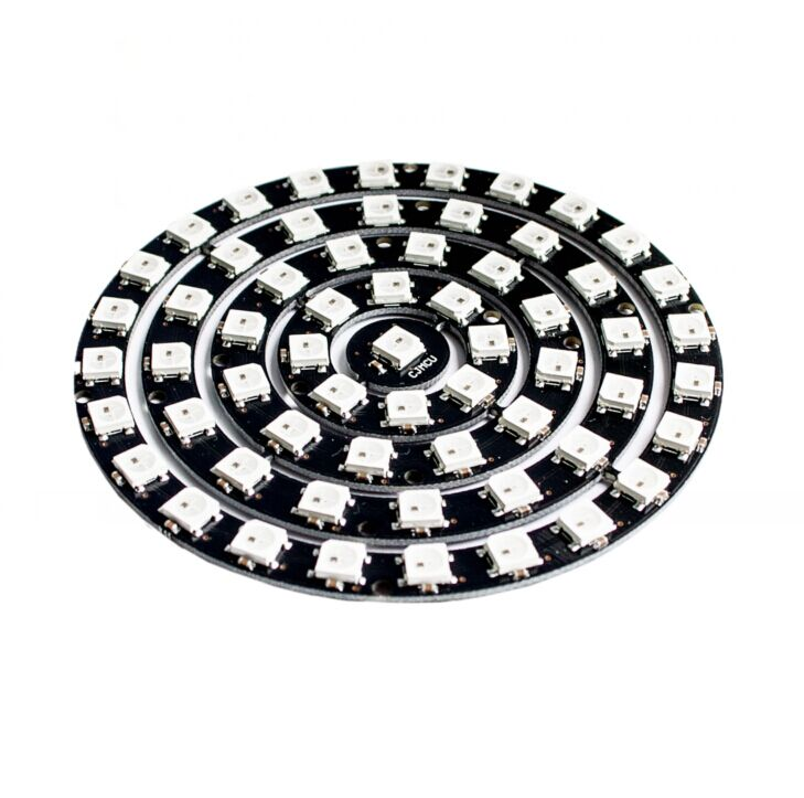 10pcs/lot 61 Bit 61x Ws2812 5050 Rgb Led Ring Lamp Light With Integrated Drivers Integrated Circuits Active Components