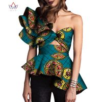2018 Dashiki African Print Tops Shirt for Women Africa Modern Style Bazin Riche Tops Plus Size Traditional Women Clothing WY3329