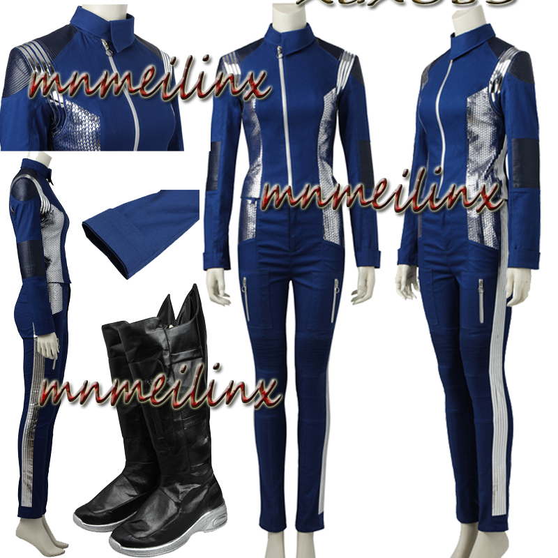 New Star Trek Discovery Cosplay Michael Burnham Cosplay Costume with Shoes