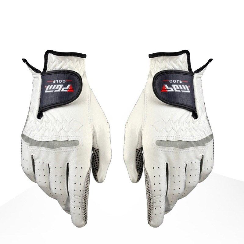 Golf Gloves Mens Golf Anti-slip Design Genuine Leather Gloves Left and Right Hand Breathable Sports Gloves Hot