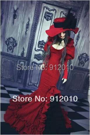 Blood Mary European Retro Fishtail Dress for BJD Doll 1/4 1/3 SD10 SDGR SD16 IP EID Woman Doll Clothes LF2