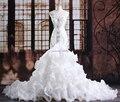 Cristais de luxo sereia casamento vestido de noiva vestido de noiva robe de mariage vestido de noiva curto 2015 Customize