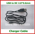 10pcs DC 2.0*0.6mm to usb Power Cable 5V 2A USB Cable Lead Charger  for  FreeLander PD20 PD10  Tablet PC NOkia mobile phone2.0mm