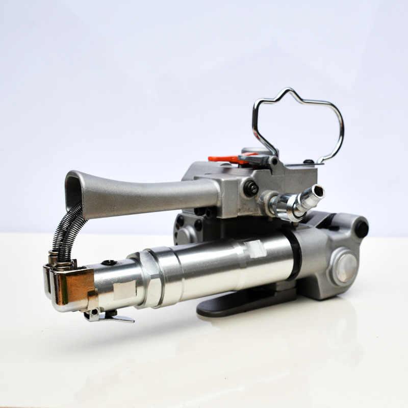 Бесплатная доставка! XQD-19 портативная Пневматика полипропилен полиэтиленовый обвязочный инструмент, пластиковая упаковочная лента машина 13-19 мм полиэстеровый ремешок