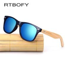 dbfead20db2 RTBOFY Wood Sunglasses Women Brand Designer Bamboo Leg Vintage Sunglasses  UV400 Wooden Sun Glasses For Men Mirror Eyewear