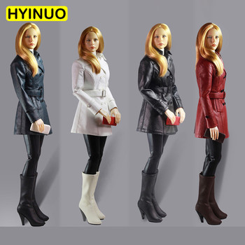"4 Colors 1/6 Scale Sexy Women's Slim Leather Clothing Female Leather Skirt Clothes Clothing Set For 12"" Action Figure Female Bod"