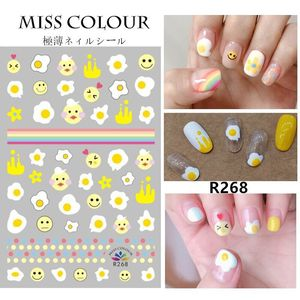 Image 3 - DIY Plants Flower Gold Line Pattern 3D Nail Sticker Self adhesive Decals Avocado leaves Cartoon Designs Manicure Nail Art Tips