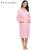 Ekouaer mulheres casamento nupcial robe quimono roupões de banho de algodão waffle weave-spa senhora noite vestido de manga longa sleepwear