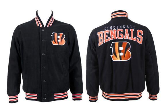 ba9a6e71 2015 New American Football Bengals Orange Black Winter Jacket Hot ...