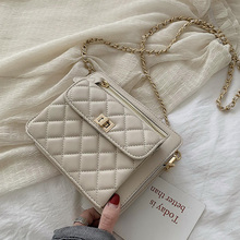 ETAILL 2019 PU Leather Women Messenger Bag Plaid Ladies Crossbody Bag Quilted Chain Diamond Red Small Flap Lock Shoulder Bags new fashion classic quilted plaid diamond lattice single shoulder crossbody women grace elegant ladies sweet flap bag handbag