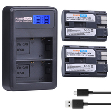 2 шт. 2650 мАч BP-511 BP 511 BP511 BP511A Батарея + ЖК-дисплей USB двойной Зарядное устройство для Canon EOS 40D 300d 5D 20D 30d 50d