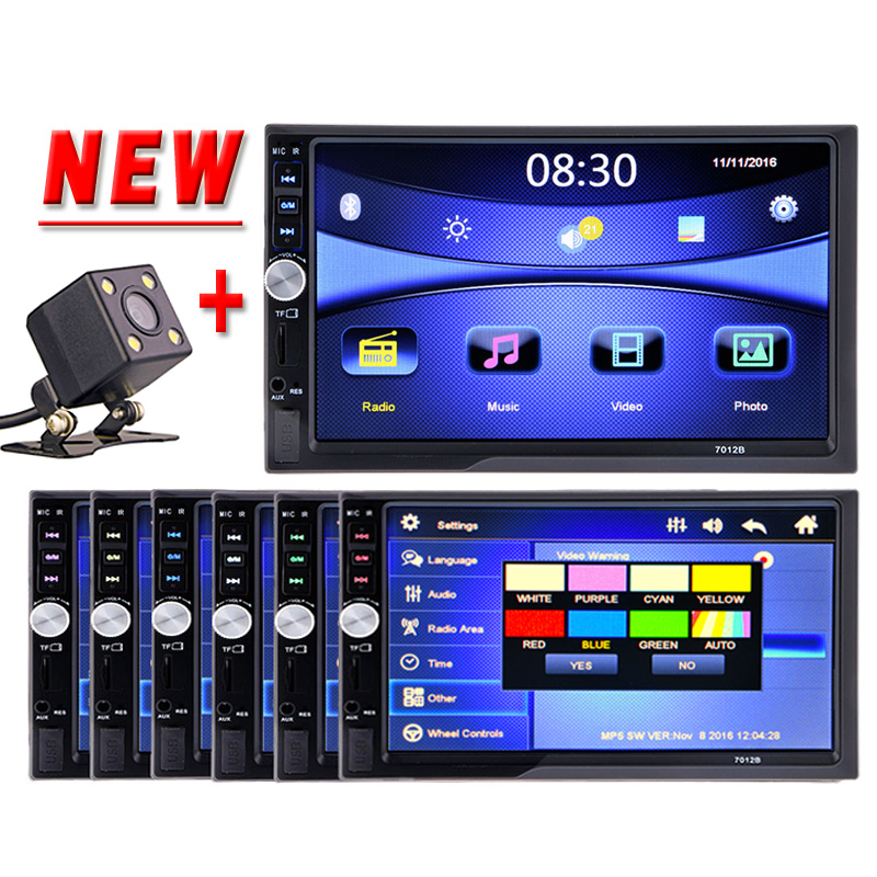 2 Din Car Multimedia Player 7'' HD Bluetooth Stereo Radio FM MP4 MP5 Audio Video USB AUX Auto Electronics In Dash 2din Autoradio