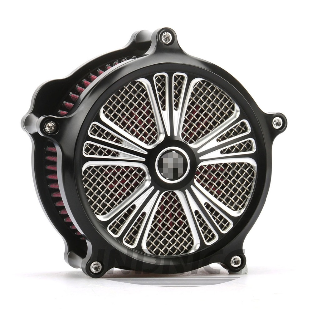 Cnc Zwart Domino Luchtfilter Voor Harley Air Intake Voor Harley Sportster Xl883 1200 Luchtfilters Sportster 883 2007- 2017