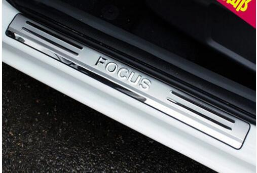 Car Styling for Ford Focus 2 mk2 accessories 2005 2006-2009 2013 stianlesssteel auto door sill protector scuff plate sills guard