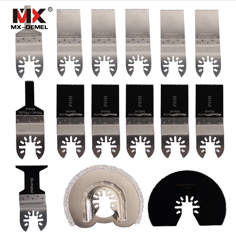 MX-DEMEL 15pcs/set Oscillating Tool Saw Blades Accessories Fit For Multimaster Renovator Power Tools As Fein, Dremel Etc