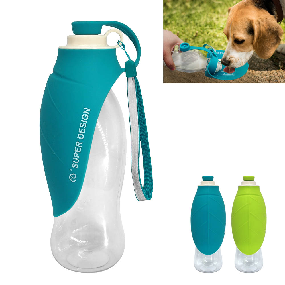 650 ML Dog Water Drinking Bottle Bowl Portable Pet Water Dispenser Cat Puppy Feeding Bottle For Outdoor Walking Travel