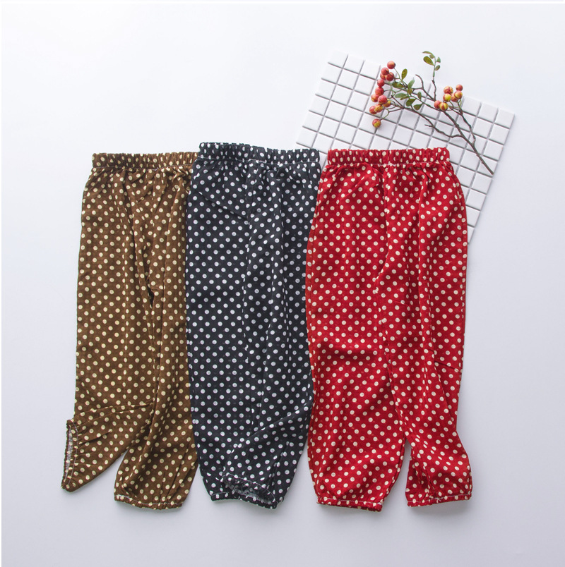 Mother Daughter Clothes 2018 New Summer Baby Girl Lantern Pants Family Look Kids Dot Printed Casual Trousers Pant Mosquito Pants 5