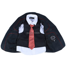 Hot Sale Regular Solid Flat for Boys New Arrival !! Three Piece Classic 100% Polyester Pin Strapes Boys Clothes Kids Blazer