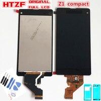 100% Оригинальный ЖК-дисплей для Sony Xperia Z1 Mini Compact D5503 M51W ЖК-дисплей кодирующий преобразователь сенсорного экрана в сборе + клей + Инструменты дл...