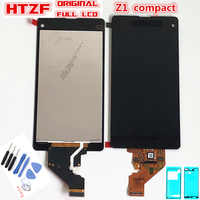 100% LCD Originale Per Sony Xperia Z1 Mini Compact D5503 M51W Display LCD Touch Screen Digitizer Assembly + Adesivo + strumenti di riparazione