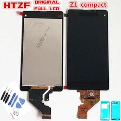 100% oryginalny wyświetlacz LCD do Sony Xperia Z1 Mini kompaktowy D5503 M51W wyświetlacz LCD ekran dotykowy Digitizer montaż + klej + narzędzia do naprawy